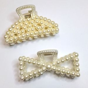 3/$20 Set of 2 Large Pearl Hair Clips
